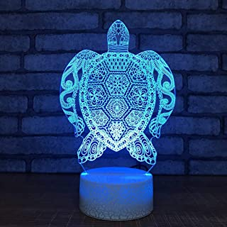 3D LED USB Enfant Chambre Mode luminaires Cadeaux noël veilleuse Tortue modélisation Lampe de Table décor Chevet bébé Sommeil