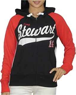 NASCAR TONY STEWART #14 Womens Athletic Warm Zip-Up Hoodie S Multicolor