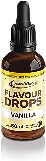 IronMaxx Flavour Drops - 50 ml - Vanille - Kalorienfrei & Zuckerfrei - Aroma Tropfen für Quark, Joghurt, Getränke & mehr -Einfache Benutzung dank Pipetten-Verschluss - Designed in Germany