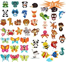 GOTONE 43Pcs 5D DIY Diamond Painting Stickers Kits for Kids, DIY Paint by Numbers Diamonds Stickers Arts with DIY Tools for Kids Beginners Crafts Making (Cute Animals, Sea World)