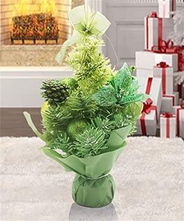 SUJESI クリスマスツリー 28cm クラシックタイプ 高級クリスマスツリー ドイツトウヒツリー デスクトップ小さなクリスマスツリー