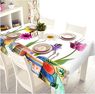 3D Christmas Sunshine Sunflower Pattern Waterproof Cloth Thicken Rectangular and Round Wedding Table Cloth,A,60 X 120Cm