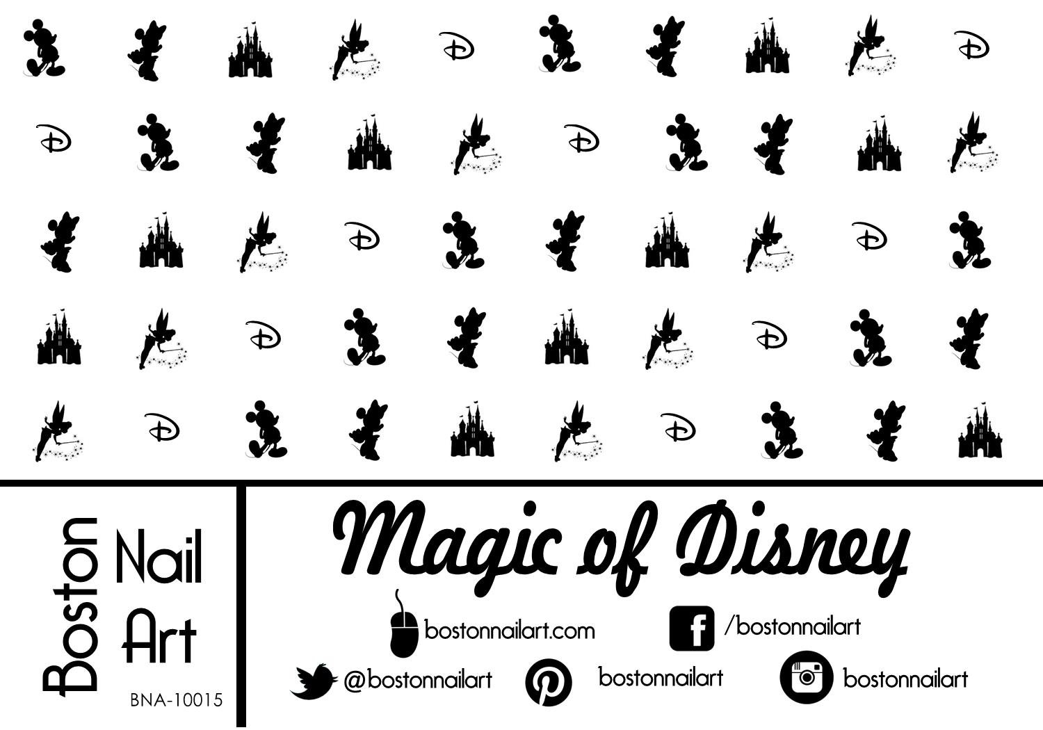 Magic of Brand new Max 87% OFF Disney - Waterslide 50pc Decals Nail