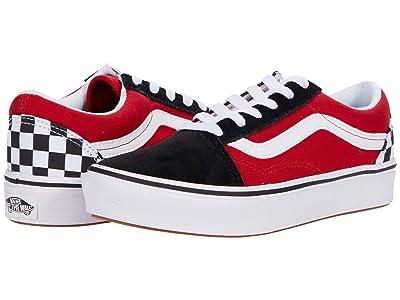 Vans Kids ComfyCush Old Skool (Big Kid) ((Checkerboard) Black/Red) Boys Shoes