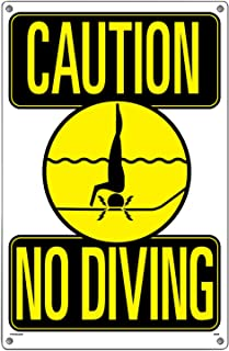 Poolmaster Sign for Residential or Commercial Swimming Pools, Caution No Diving