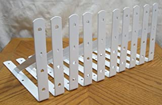 """10 Heavy Duty White Steel 12"""" x 8"""" Shelf Brackets! 500 Lb Metal Lot L Countertop"""