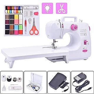 Máquina de coser eléctrica portátil, 16 puntadas incorpor