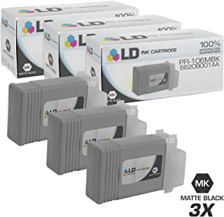 LD Compatible Ink Cartridge Replacement for Canon PFI-106MBK 6620B001AA (Matte Black, 3-Pack)