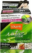 Lolane Nature Code Hair Color Shampoo Natural Black (N1) Non-ammonia Natural Extract Kit X 3 Boxes