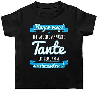 Shirtracer - Sprüche Baby - Ich Habe eine verrückte Tante Blau - Baby T-Shirt Kurzarm