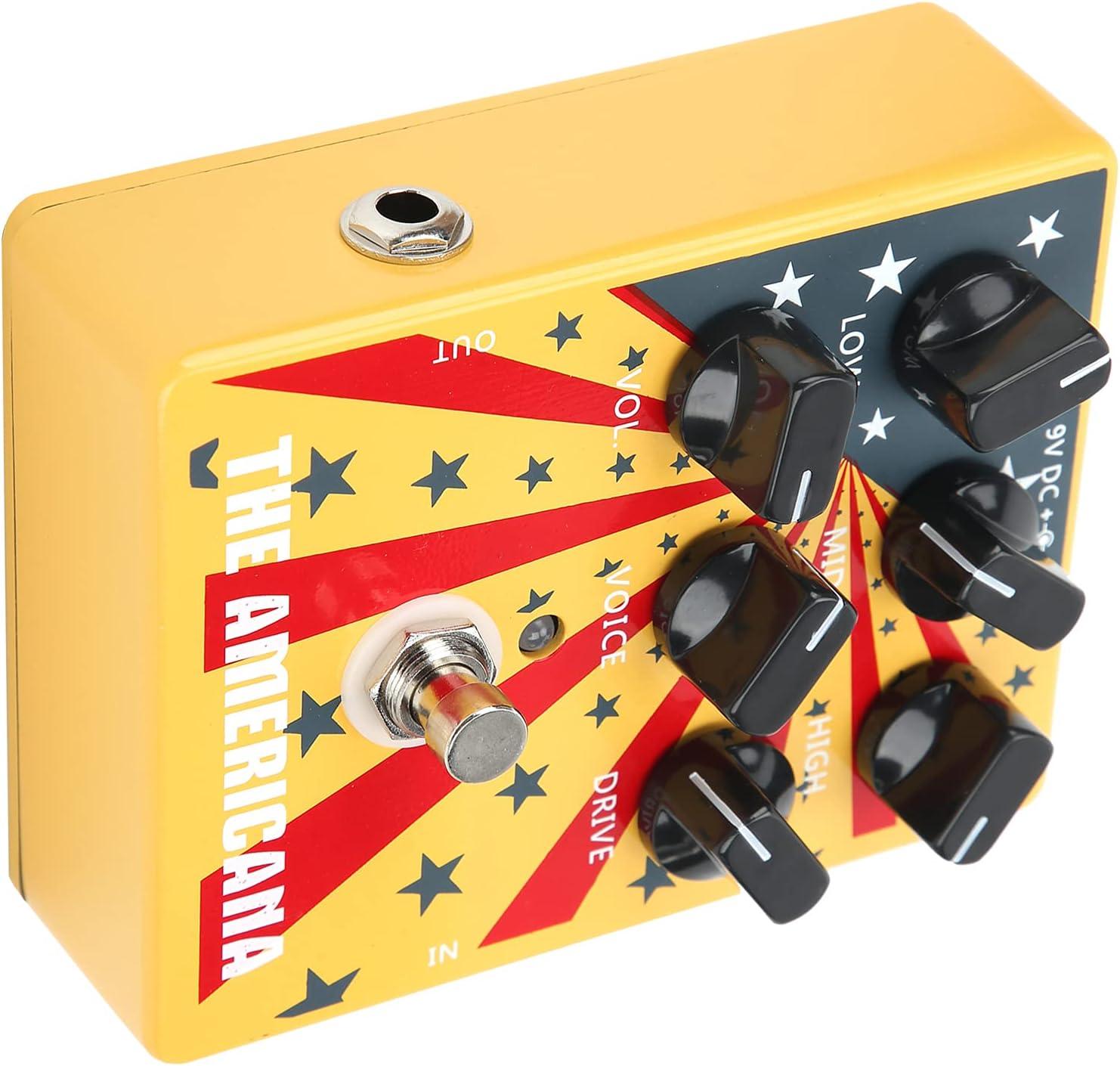 Pedal de sonido americano, pedales de guitarra de simulación para guitarra y bajo