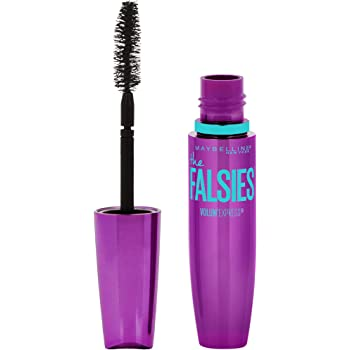 Maybelline Volum' Express the Falsies Volumizing, Washable Mascara, Blackest Black, 1 Count (Packaging May Vary)