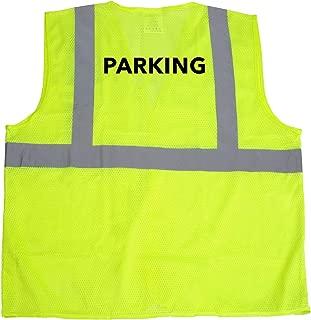 JORESTECH High Visibility Custom Heat Transfer Printed Reflective Safety Hi Vis Vest (Large to Extra Large, Parking)