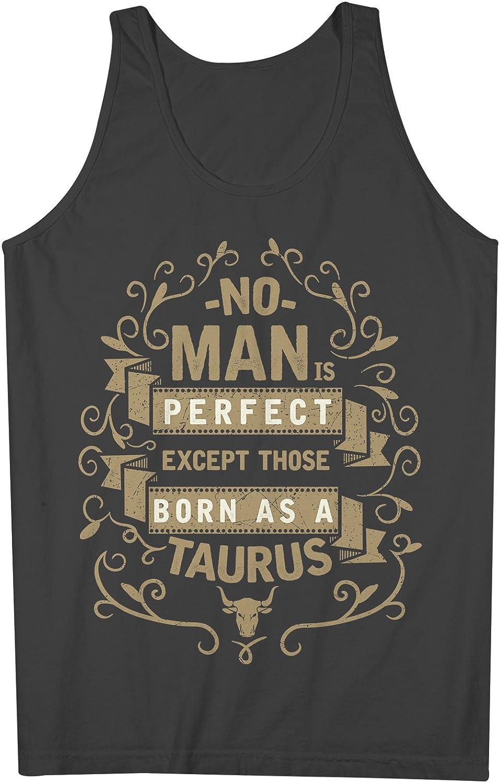 No Man Is Perfect Except Those Born As A Taurus お誕生日 男性用 Tank Top Sleeveless Shirt