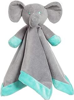 Apricot Lamb Luxury Snuggle Plush Grey Elephant Buddy Security Blanket Buddy Nursery Bed Blankets Stuffed Animals Security Blanket Nursery Character Blanket (Grey Elephant, 14 Inches)