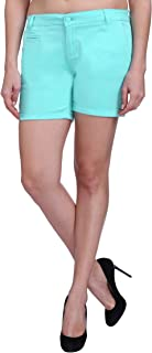 KVL Cotton Casual Shorts for Women-Sky Blue