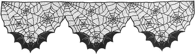 BESTOYARD Pano para decoração de Halloween para lareira de Halloween com teia de aranha para festas de Halloween