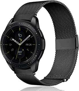 Koreda Compatible with Samsung Galaxy Watch (42mm)/Galaxy Watch Active/Active2 Bands, 20mm Stainless Steel Mesh Loop Replacement Bracelet Strap for Galaxy Watch 42mm/Gear Sport Smartwatch