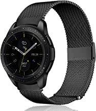 Koreda Compatible Samsung Galaxy Watch 46mm/Gear S3 Frontier/Classic Band, 22mm Stainless Steel Mesh Loop Bracelet Strap Replacement for Ticwatch Pro/Samsung Galaxy Watch 46mm Smartwatch
