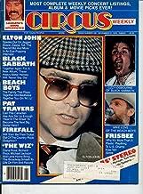 Circus Magazine ELTON JOHN Black Sabbath PAT TRAVERS Beach Boys THE WHIZ Ace Frehley FIREFALL Nick Gilder FRISBEE November 21, 1978 C