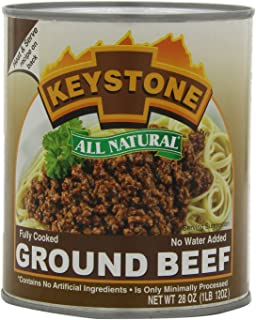 Keystone Meats All Natural Ground Beef, 28 Ounce - Pack of 6