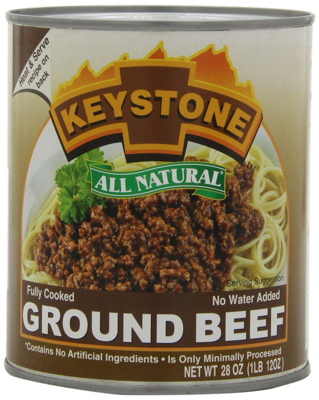 Keystone Meats All Natural Ground Beef - 4 28 Ounce Popular overseas OFFer Pack of