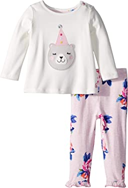 Applique Set with Frill Leggings (Infant)