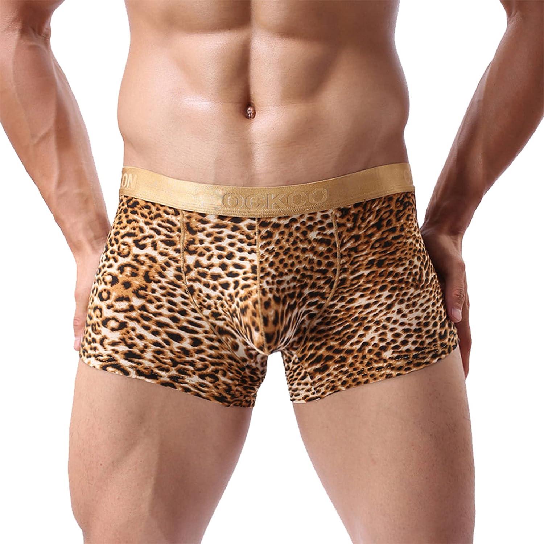 LFCFE Boxer Leopard Printed Underwear 4 Co Pieces Fashion Miami Mall U-Shaped Men's