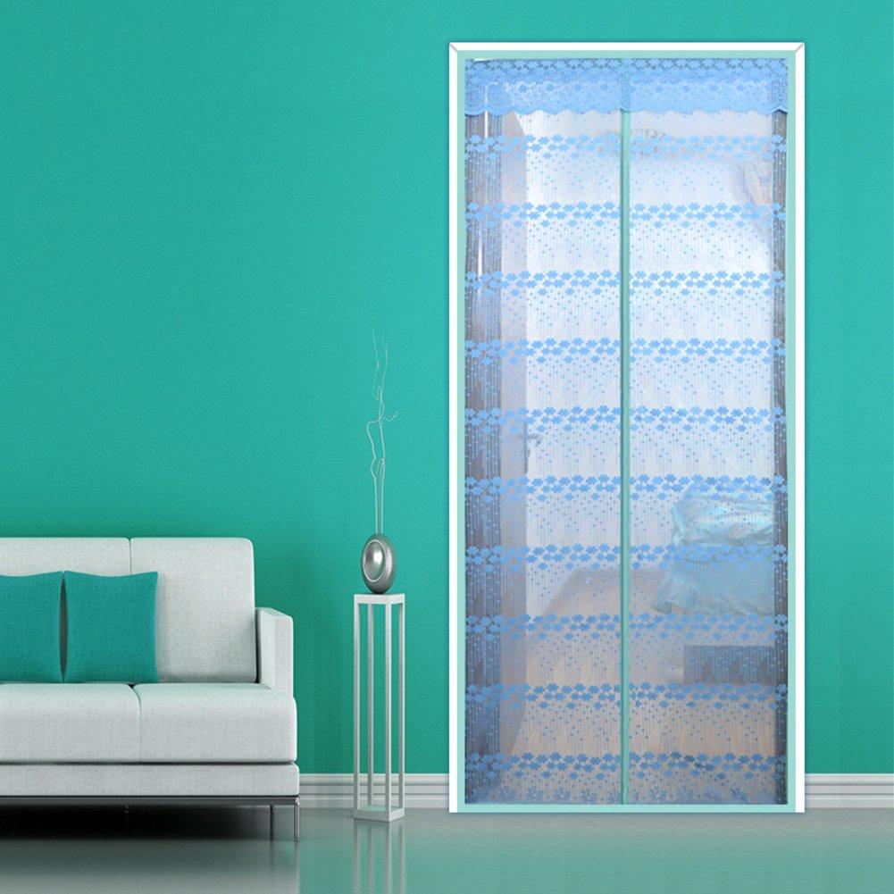 Cifrar Mute Mosquitera magnética para Puertas, Anti Mosquito Puerta ciega para Inicio Dormitorio Sala de Estar Jardín con Respaldo-Azul A 95x215cm(37x85inch): Amazon.es: Hogar