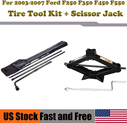 lowest For Ford Super Duty 2003-2007 F250 350 450 popular 550 Spare Tire Tool Replacement sale Kit+ Scissor Jack 2T outlet online sale