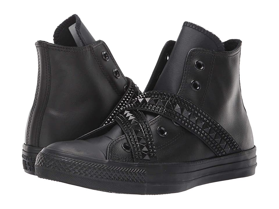 Converse Chuck Taylor All Star Punk Strap Hi (Black/Black/Black) Women