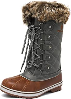 DREAM PAIRS Womens Mid-Calf Winter Snow Boots