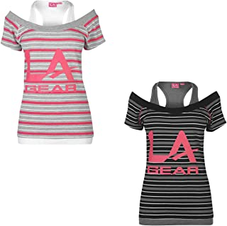 LA Gear Multi Layer T-Shirt Womens Top Tee Shirt Athleisure Activewear