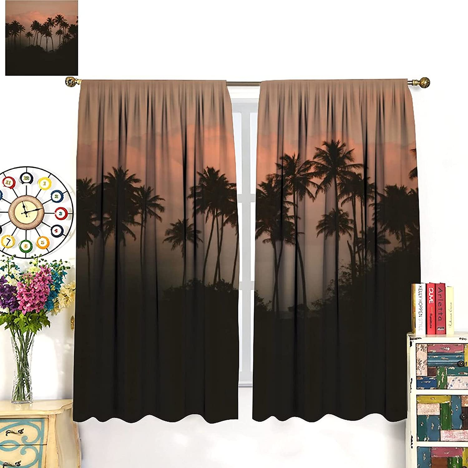 Max 63% OFF Rustic Green Forest Curtains Nature Wo Tree Fog Mountain New products, world's highest quality popular!