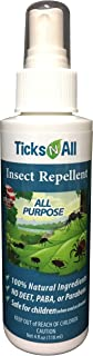 Ticks N All All Purpose Insect Repellent - All Natural Tick Repellent Spray - 4 Ounce