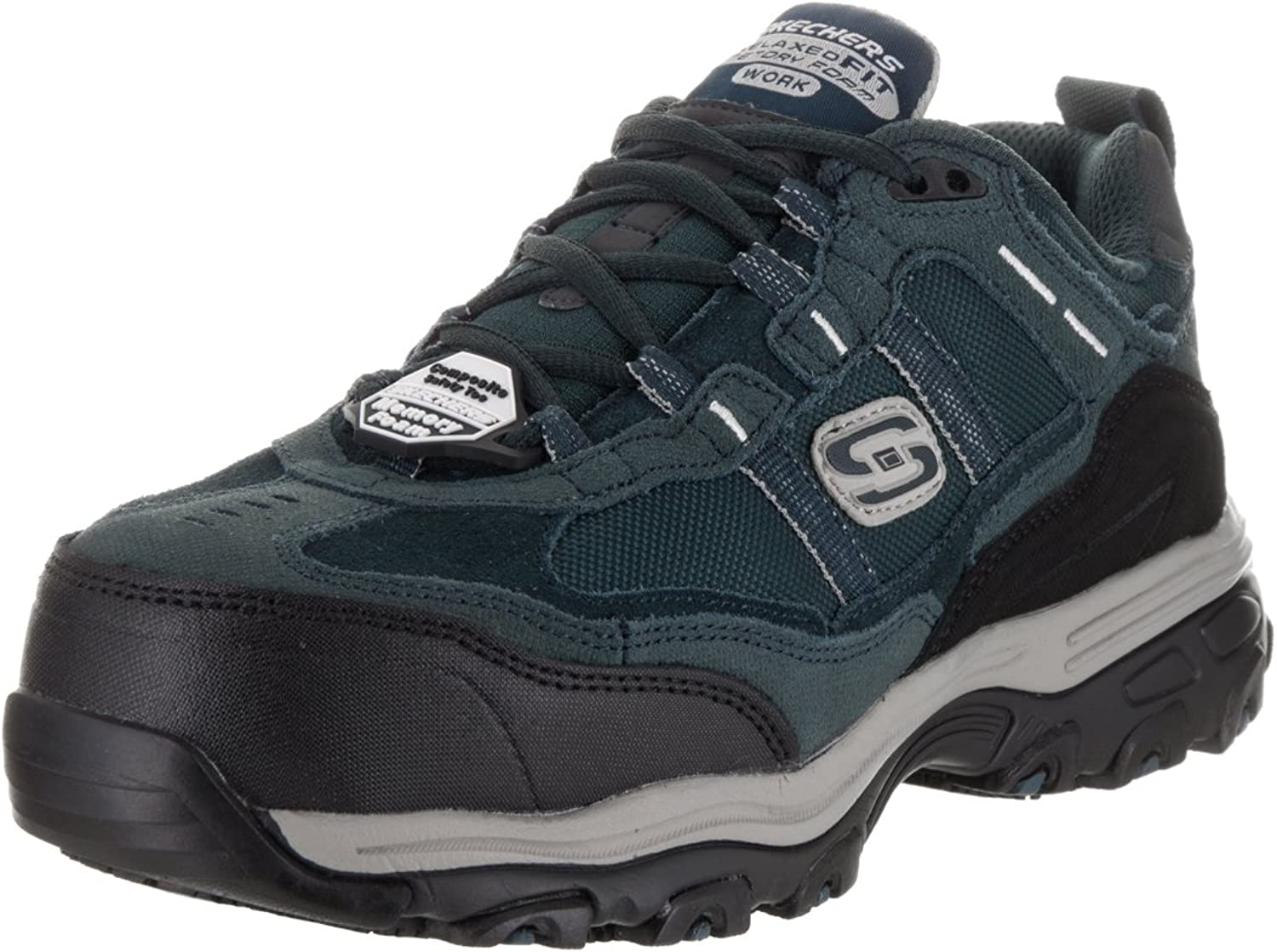 Skechers for Work Women's D'Lite Slip Resistant Toliand Composite Toe Work shoes