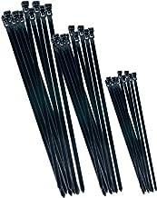 CON:P B20451 Cable Ties Reusable Set, Black, Set of 75 Pieces