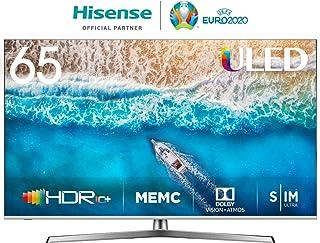 Hisense H65U7BE - Smart TV ULED 65' 4K Ultra HD con Alexa Integrada, Bluetooth, Dolby Vision HDR, HDR 10+, Audio Dolby Atmos, Ultra Dimming, Smart TV VIDAA U 3.0 IA,  mando con micrófono