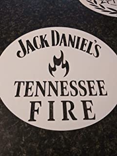 Whiskey Airbrush Stencil Jack daniels Tennessee fire for barrel lid painting 7.5