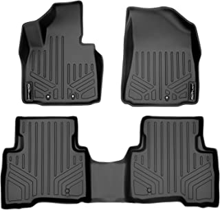 MAXLINER Floor Mats 2 Row Liner Set Black for 2014-2015 Kia Sorento