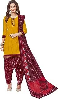 Jevi Prints Women's Cotton Printed Readymade Stitched Salwar Suit Dupatta (SUIT_CP-227)