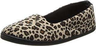 شبشب Dearfoams قطيفة قطيفة حقيبة مغلقة للنساء - أحذية سهلة الارتداء مصنوعة من الألياف الدقيقة المبطنة مع نعل خارجي متين - 745