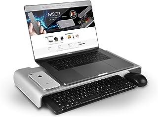 SilverStone SST MR01S   Ergonomischer Aluminium Monitor Erhöhung für Computer Monitore bis max. 27' oder 10 kg, silber