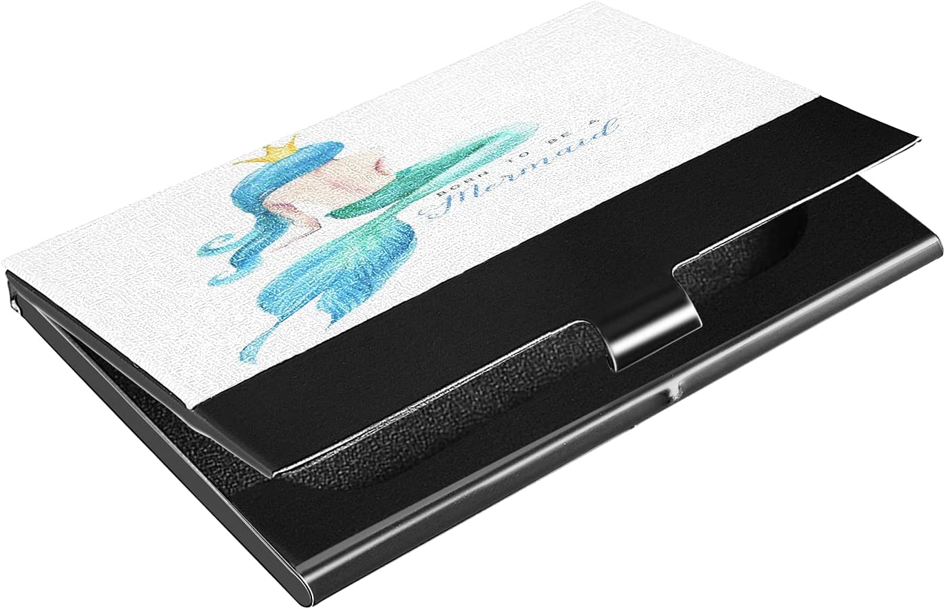 OcuteO Watercolor Beautiful Mermaid Teal Case lowest price 70% OFF Outlet Slim Business Card