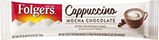 Folgers Cappuccino Single Serve Mix Packets, Mocha Chocolate, 32 Count, Packaging May Vary