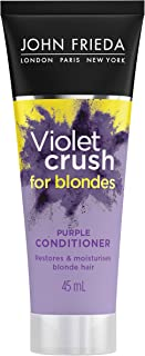 John Frieda Violet Crush Purple Conditioner for Brassy Blonde Hair, with Violet Pigments, 45ml