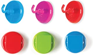 """Learning Resources Super Strong Magnetic Hooks & Clips, 6 Pieces, Measures 1.5"""" Diameter"""