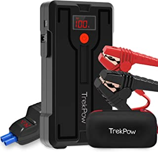 Car Jump Starter, TrekPow G39 1200A Peak 12V Battery Jumper Starter (up to 6.5L Gas/5.5L Diesel Engine) Auto Booster Jump Pack Portable with Smart Jumper Cables, QC 3.0 Phone Charger, Storage Case