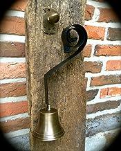 toller Klang Glocke Gartenglocke im Landhausstil Türglocke mit schönem Haltearm