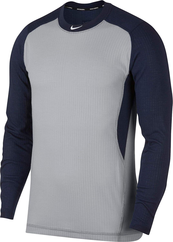 Nike Men's Long Sleeve Baseball Top Wolf shipfree College Navy White 2021new shipping free Grey